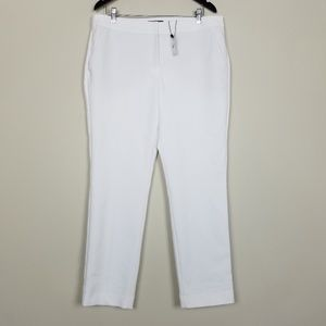 Express NEW Columnist Ankle White Pants A1007